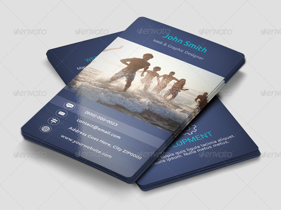 beach graphic designer business card example