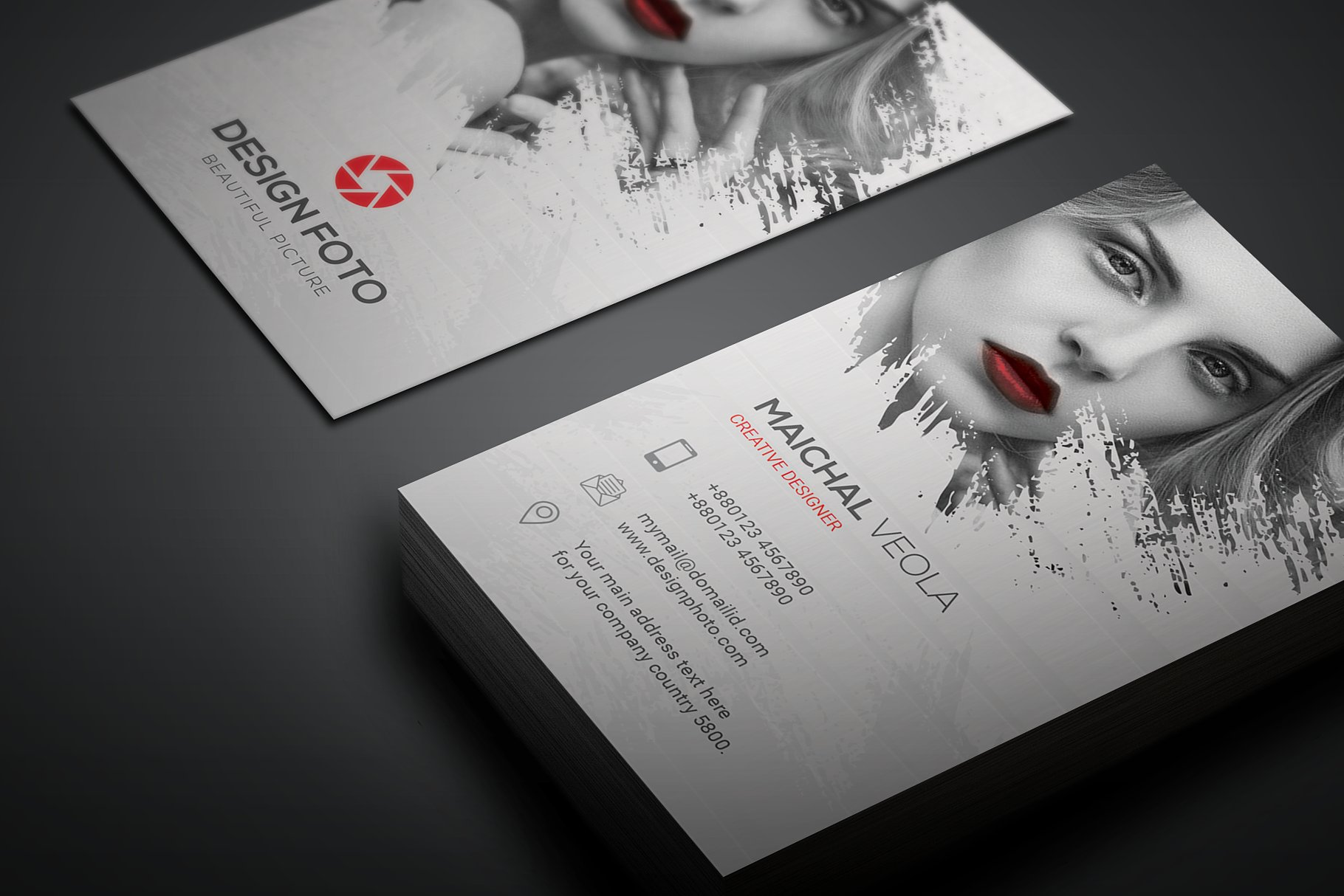 beautiful artist business card example