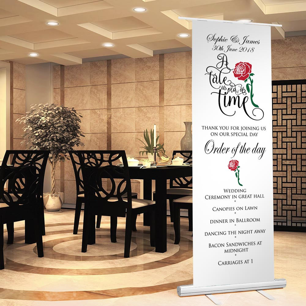 beautiful roller wedding banner example