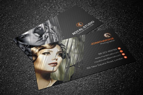 beautiful studio business card example