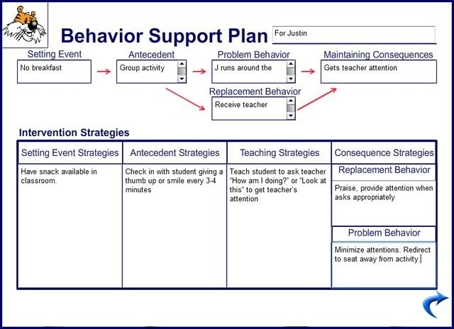 behavior support plan example