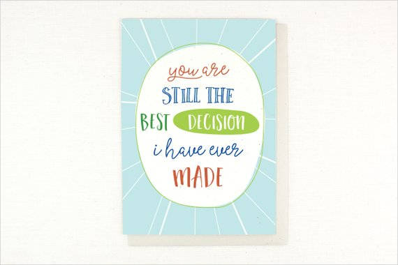 best decision anniversary greeting card example1