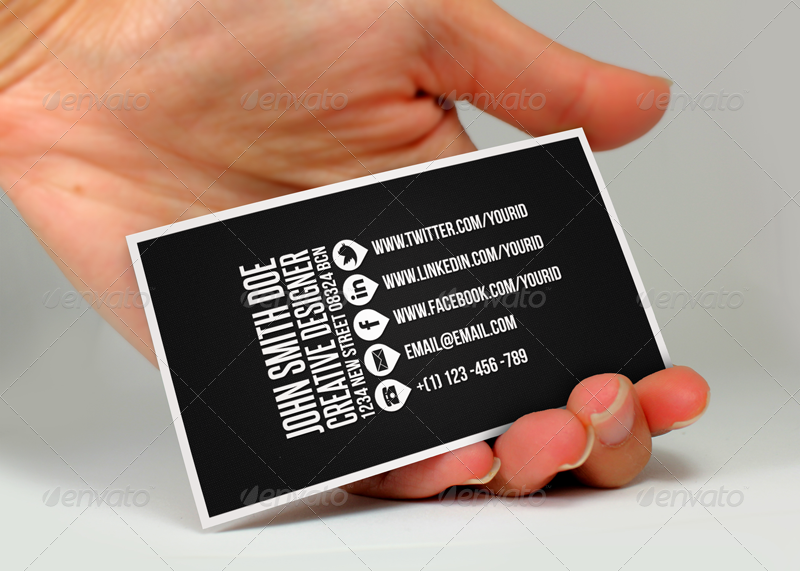 black business card bundle example