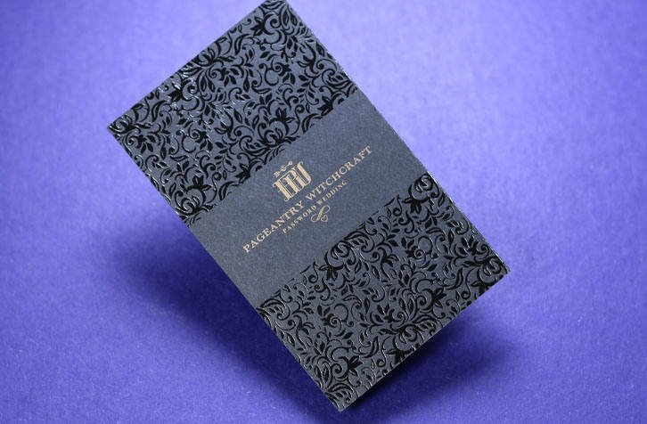 black foil luxury business card example