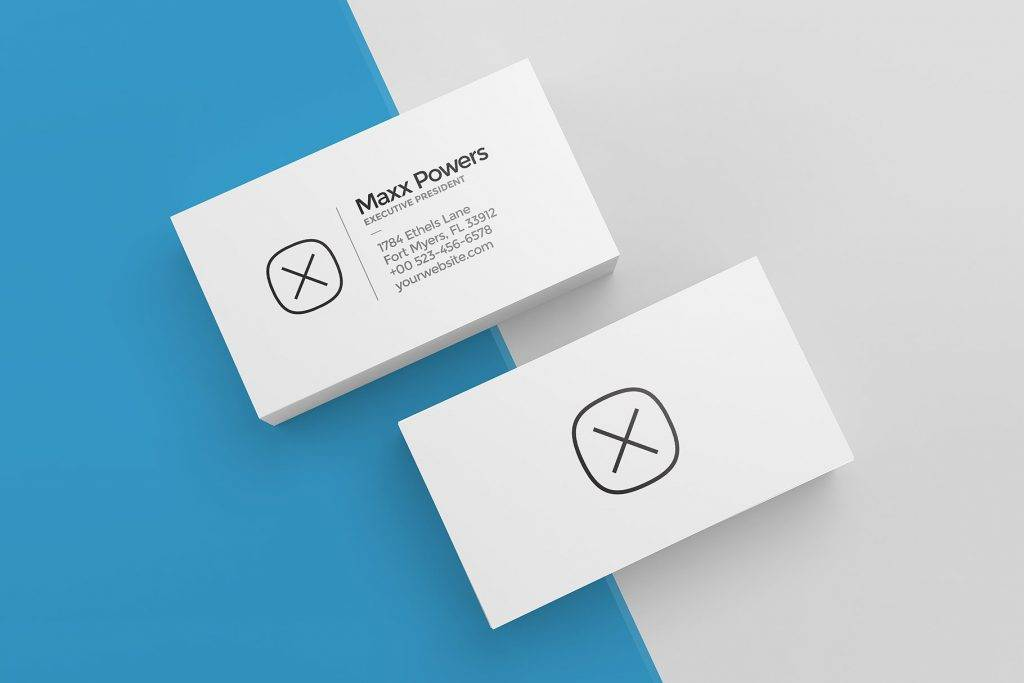 blank business cards mock up