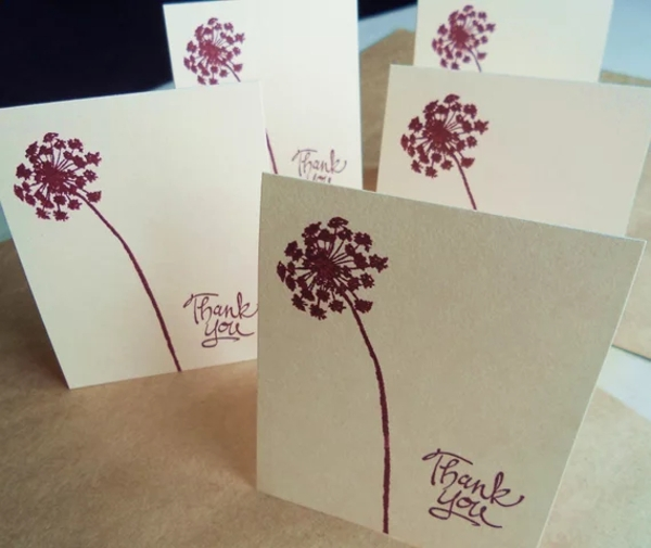 blank thank you note card