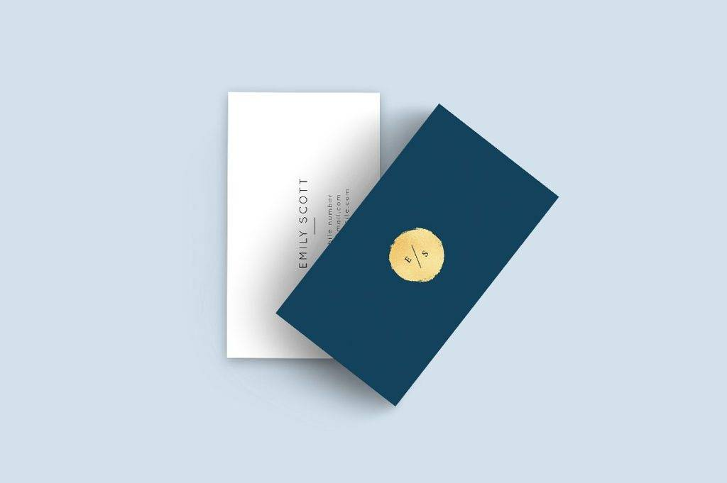 blue gold luxury business card example 1024x681
