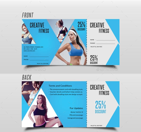 blue gym fitness voucher example1