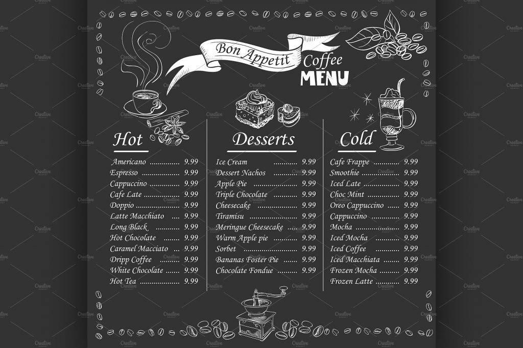 bon appetit vintage menu design example