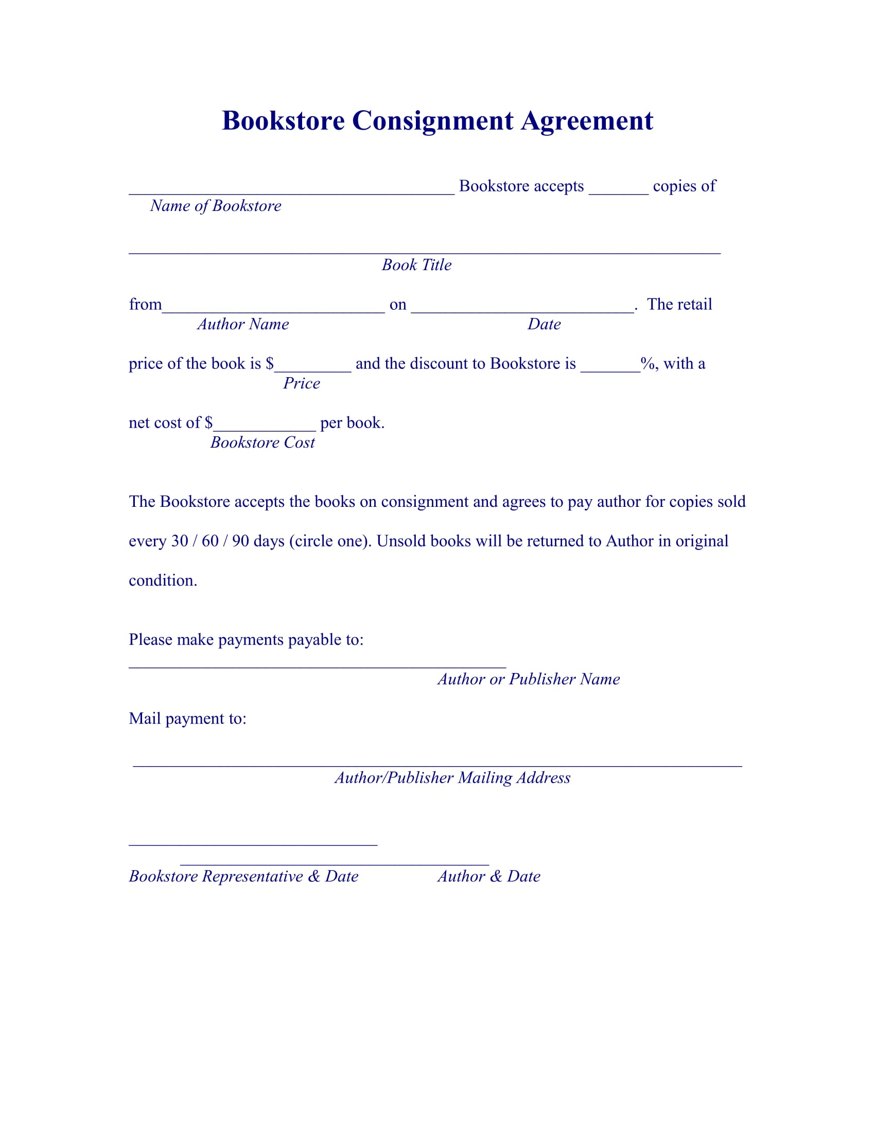 13 Consignment Agreement Examples Pdf Doc
