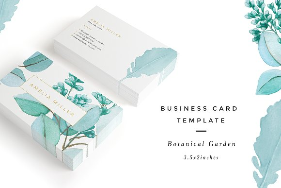 botanical business card example