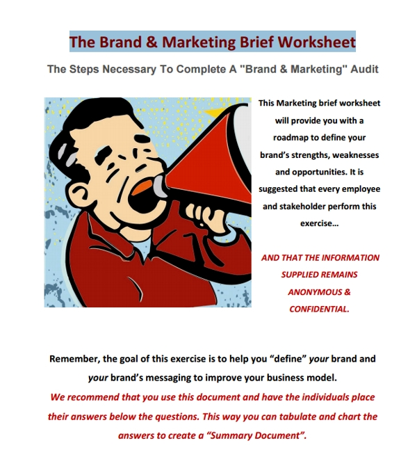 brand marketing brief worksheet
