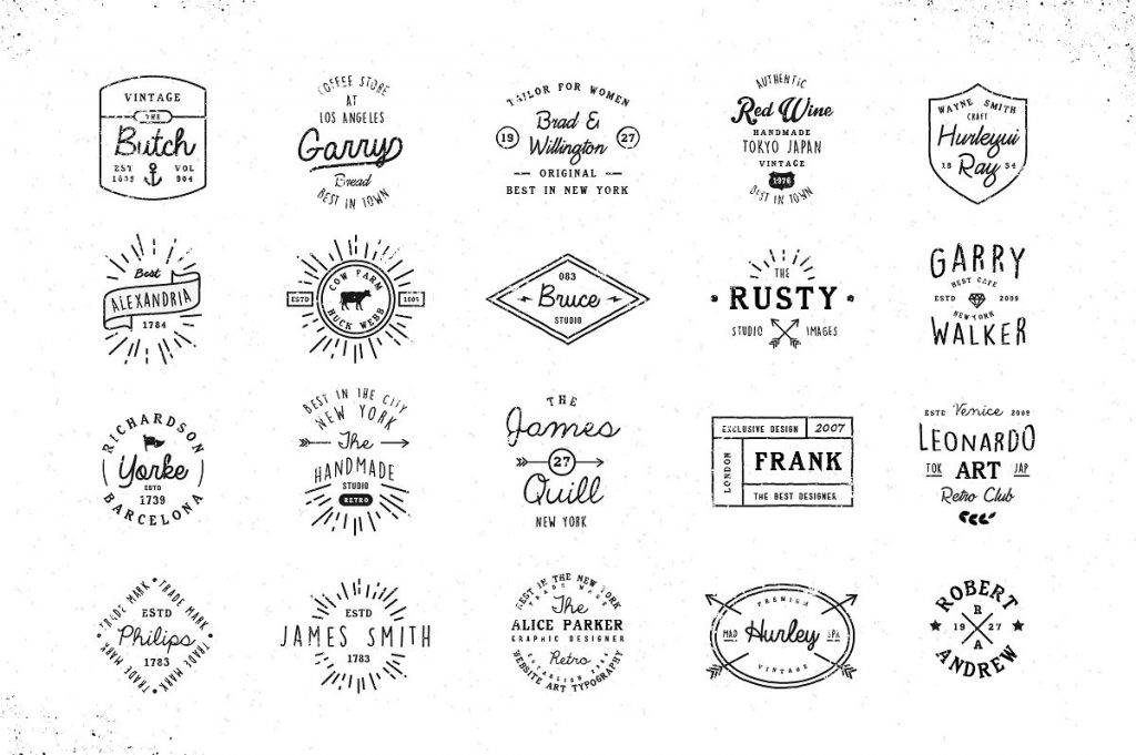 brand name badge vintage design
