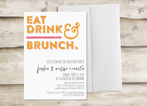 breakfast and lunch invitation example