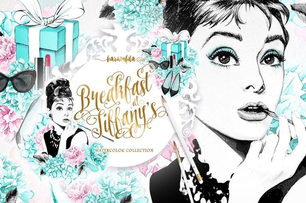 breakfast at tiffanys clipart example