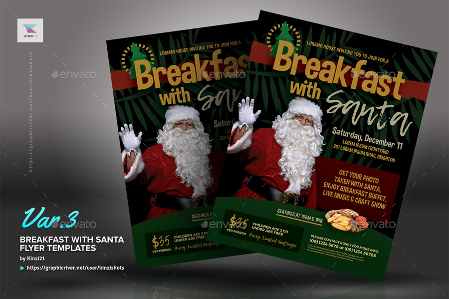 breakfast with santa flyer example