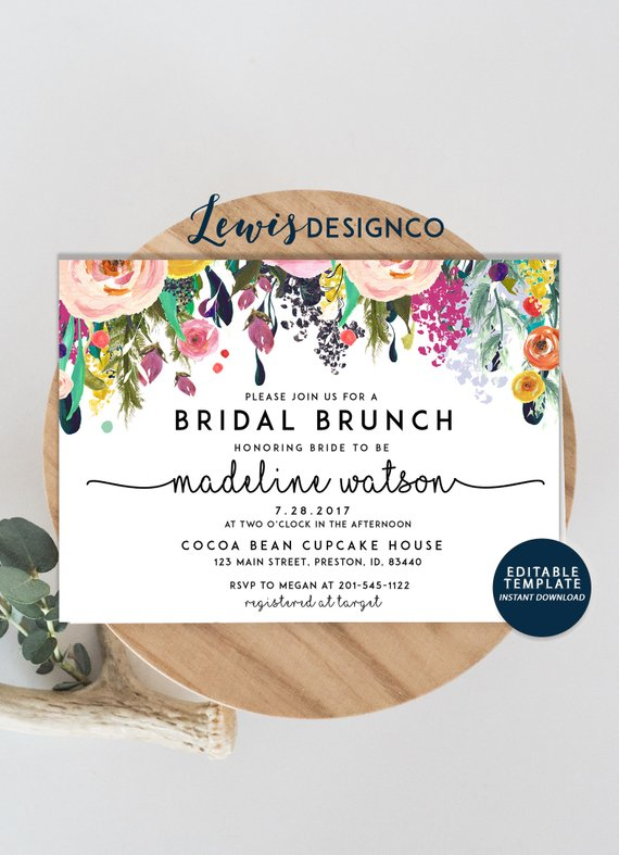 bridal brunch invite example