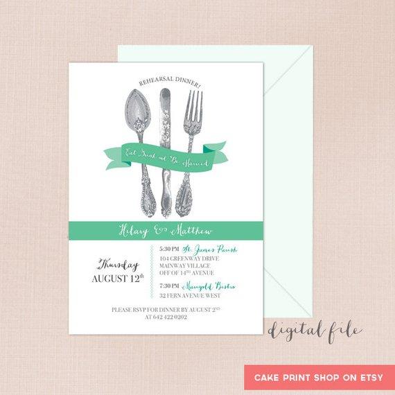 bridal lunch invitation