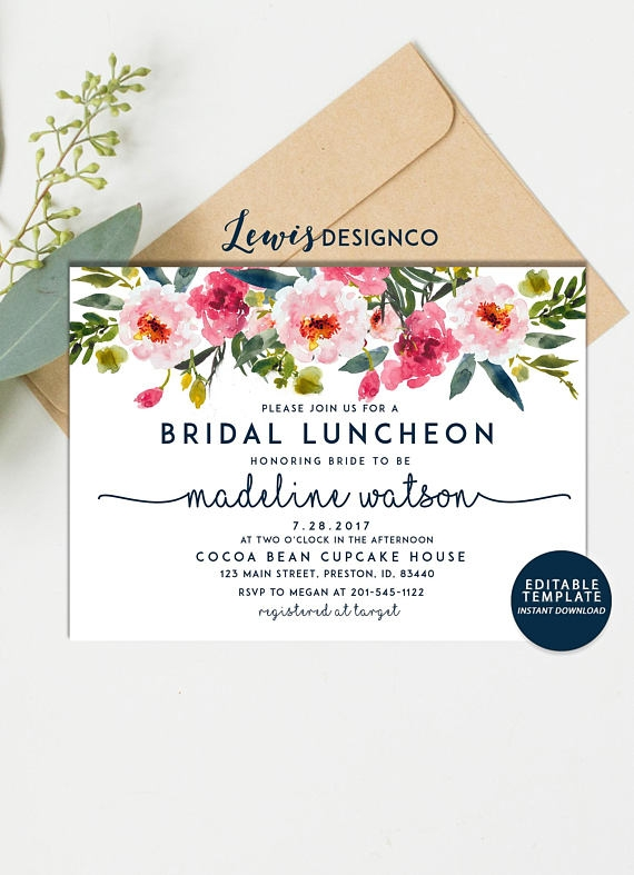 10 bridal luncheon invitation designs and examples psd ai