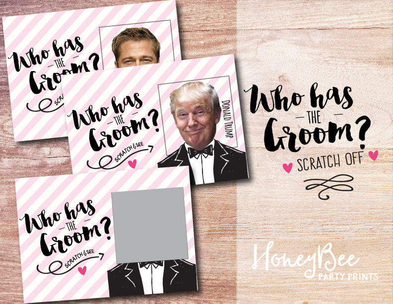 bridal shower groom scratch card example