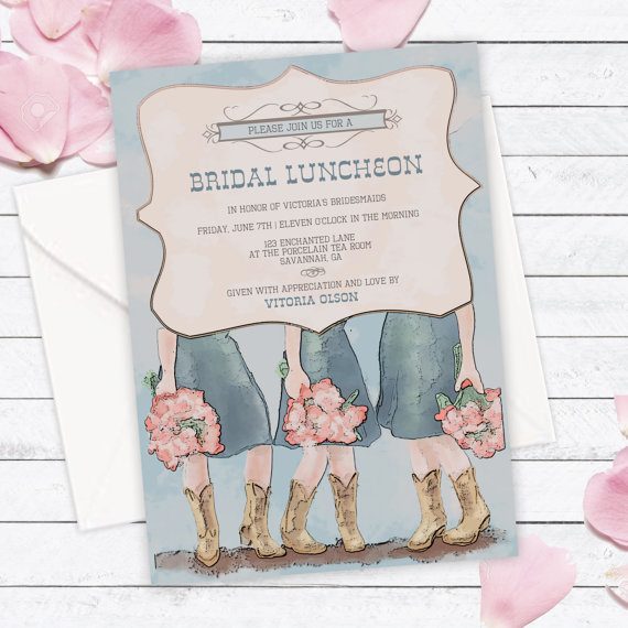 bridesmaid lunch invitation example