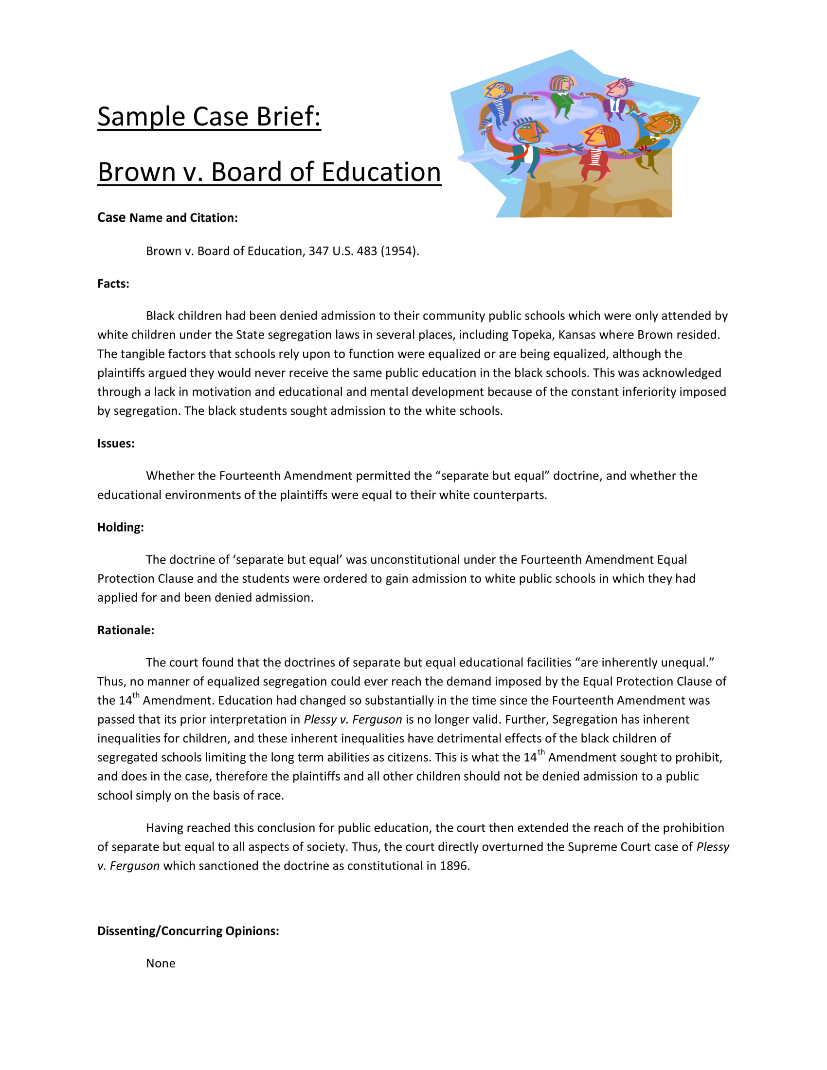 9+ Case Brief Examples - PDF | Examples