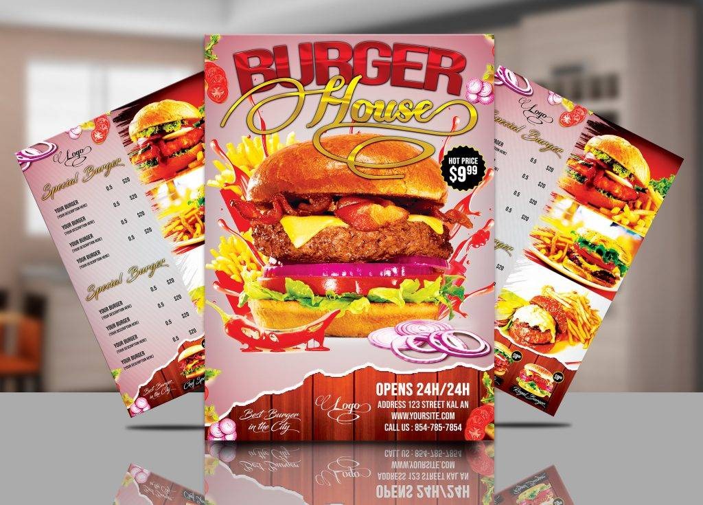 burger indesign menu example 1024x735
