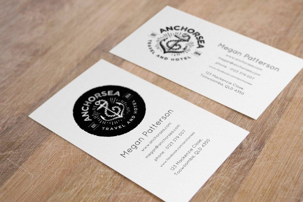 Business Card Mock Up And Vintage Logos