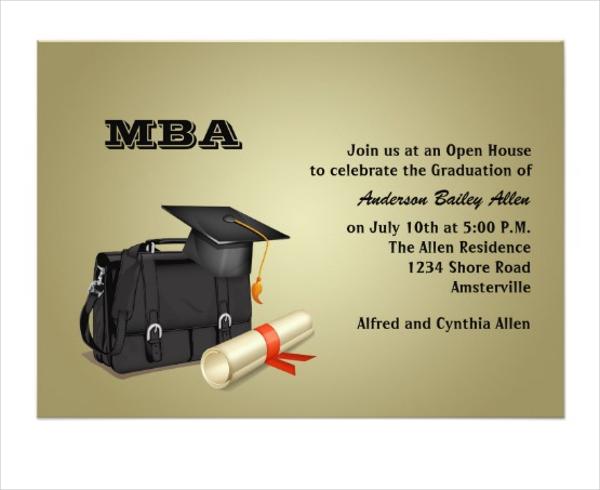 business graduation invitation card