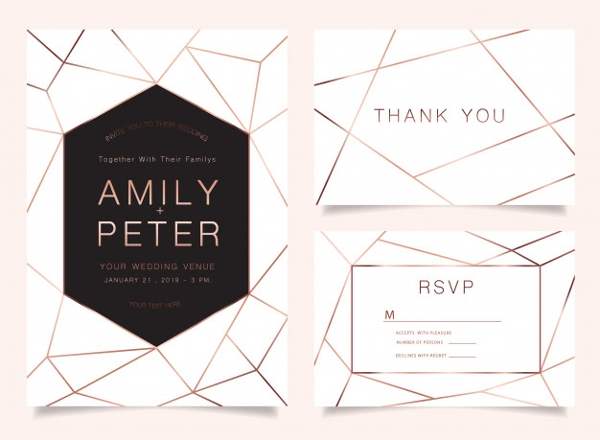 business wedding invitation card