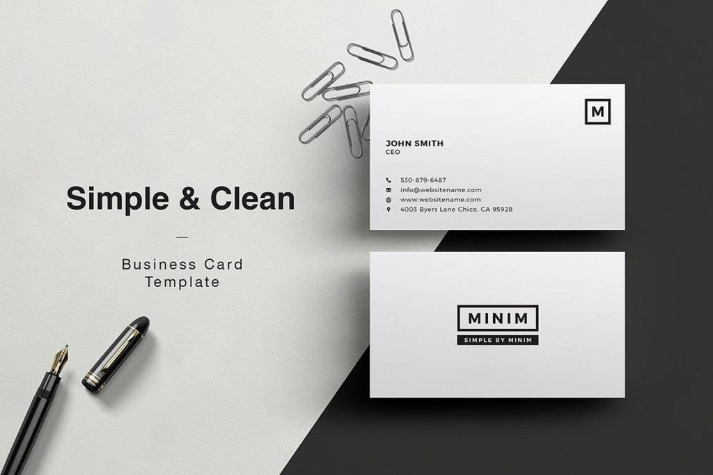 ceo clean business card example