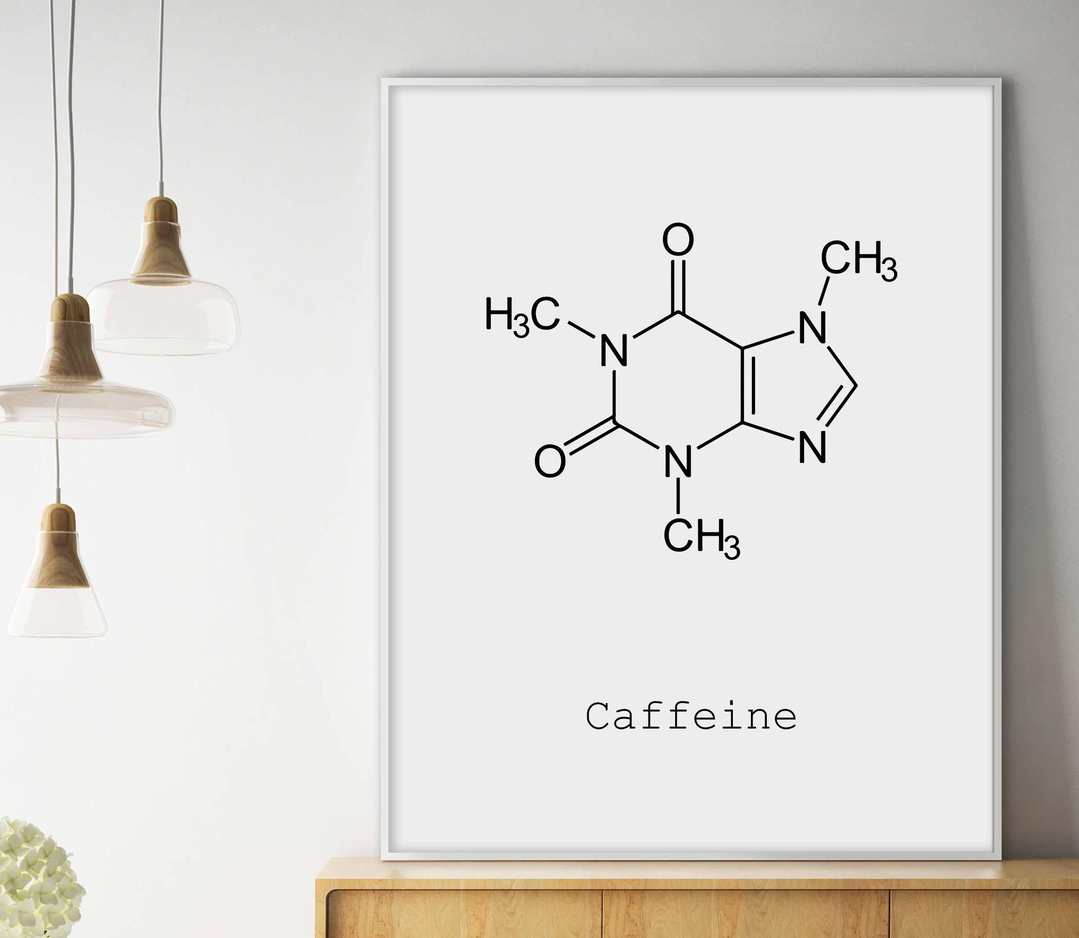 caffeine molecule poster example