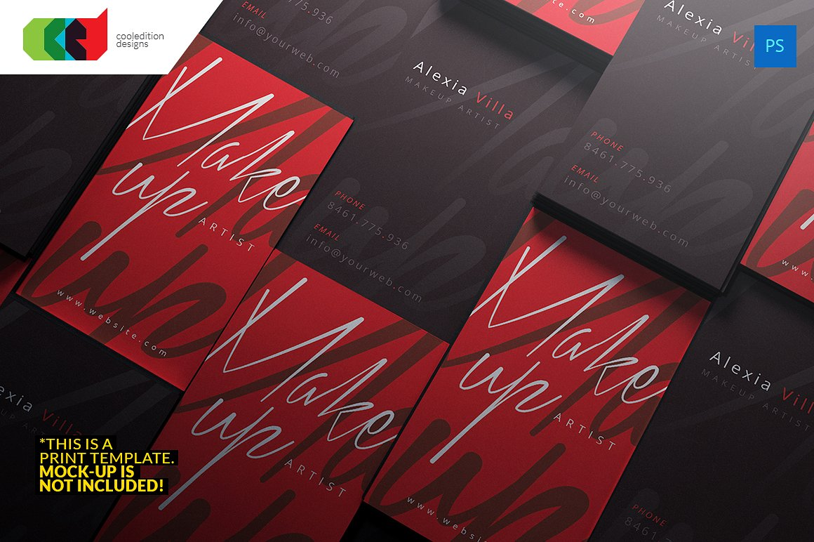 calligraphy artist business card example