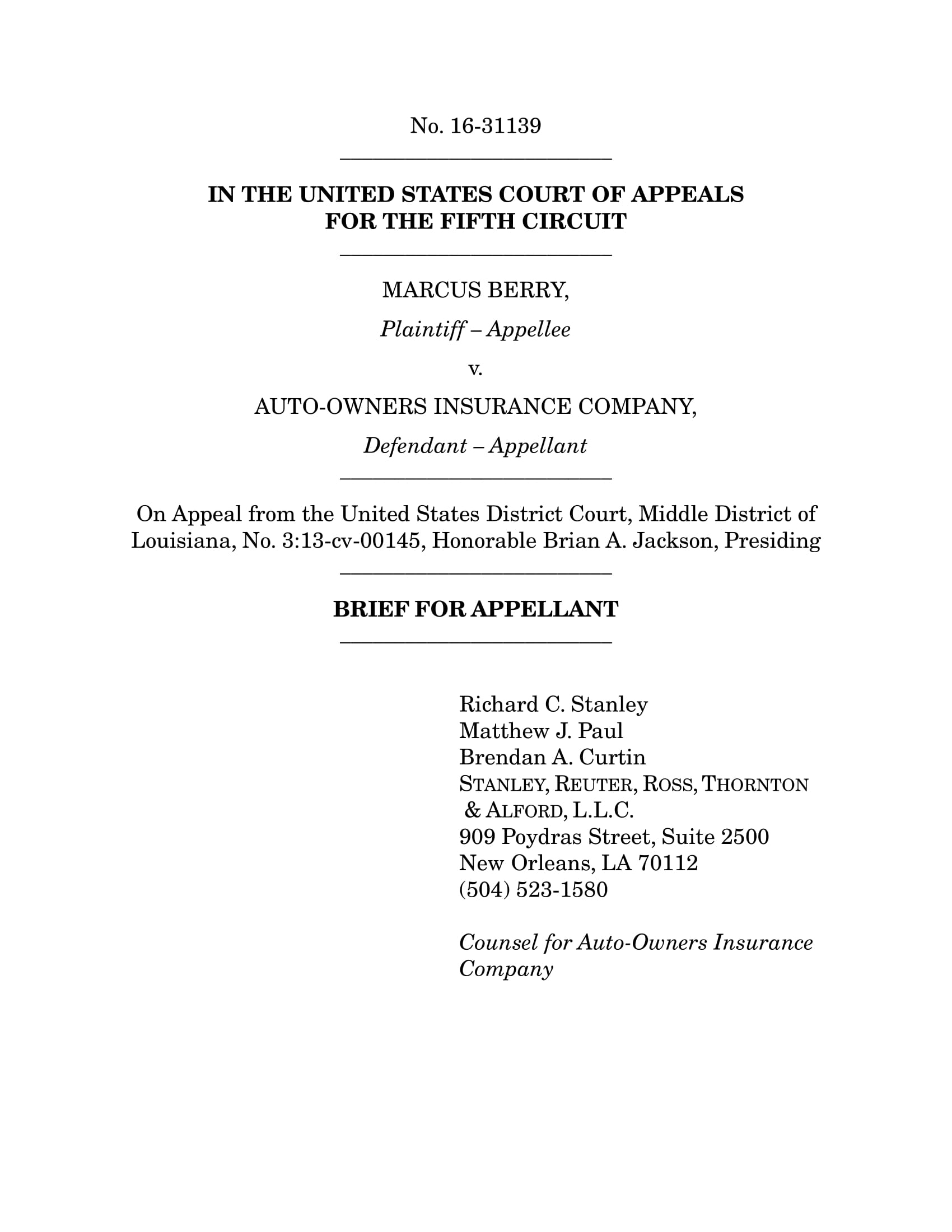 appellate brief outline