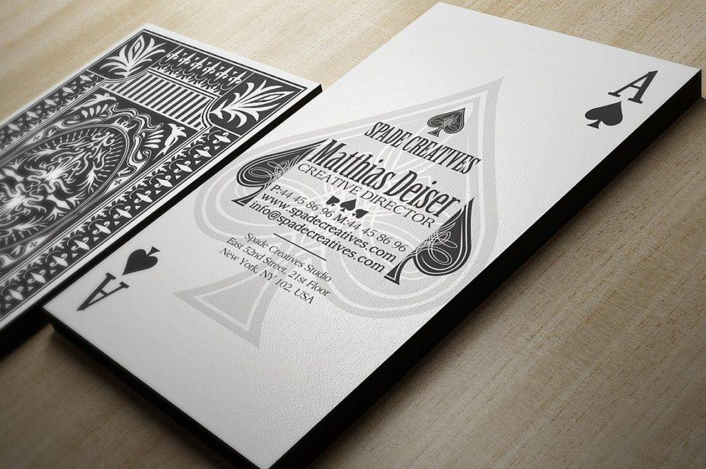 casino style business card