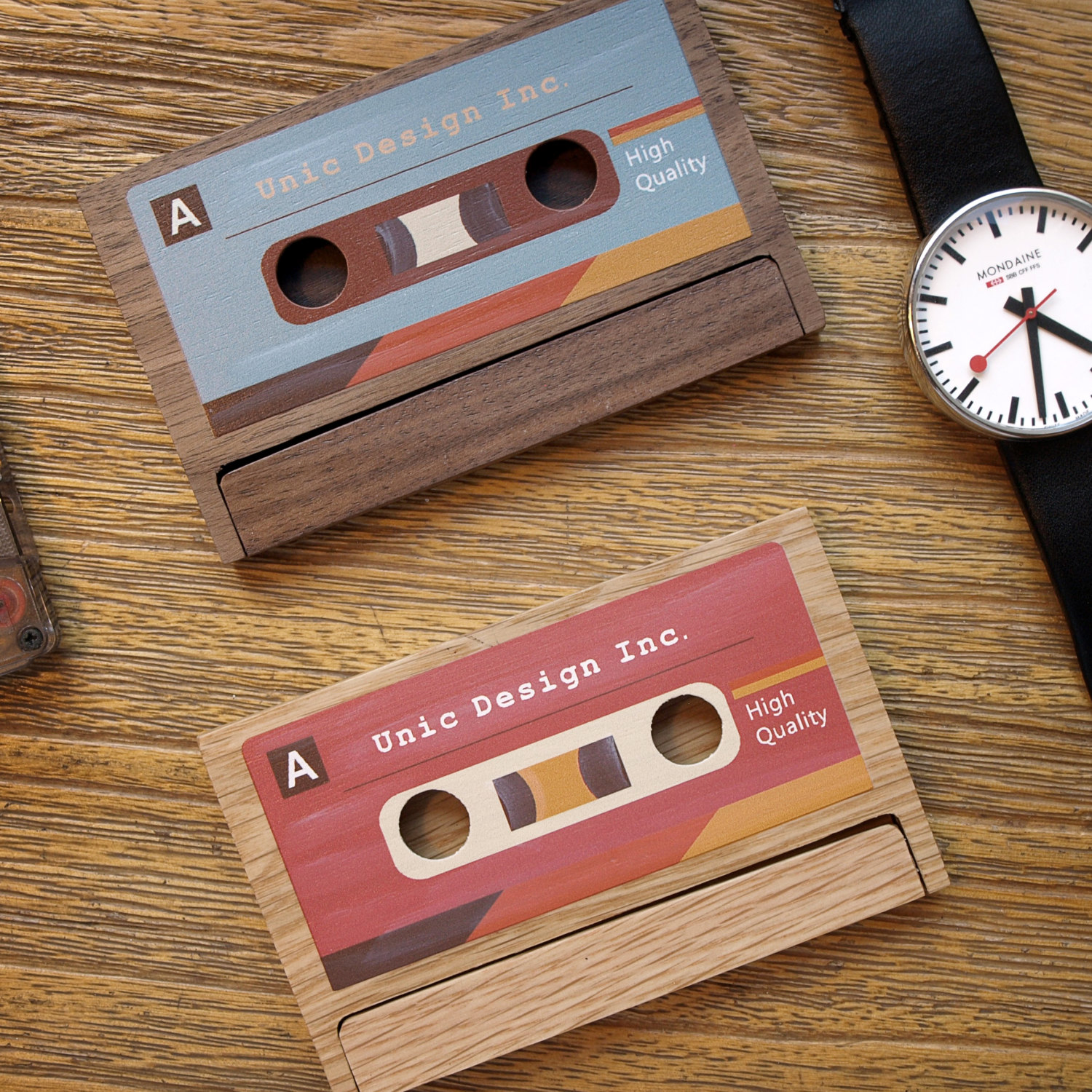 cassette business card example