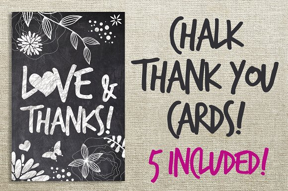 chalk thank you cards bundle example