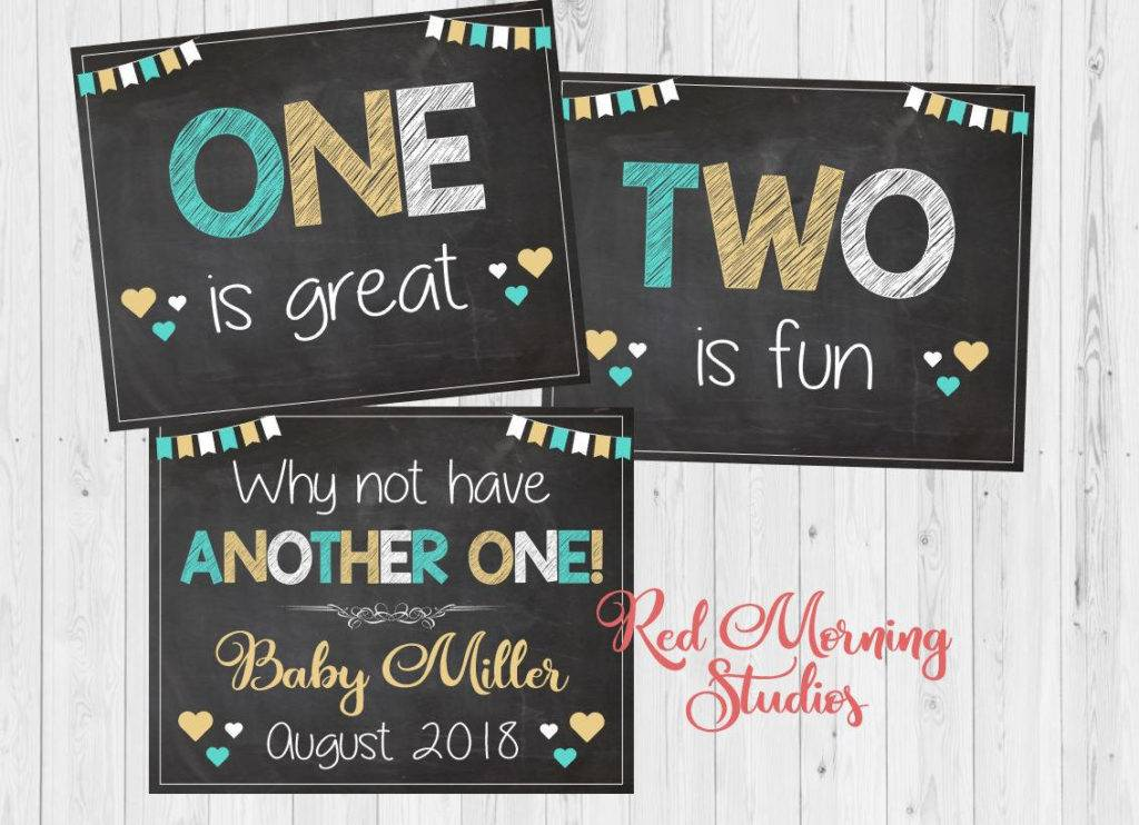 chalkboard announcement design example