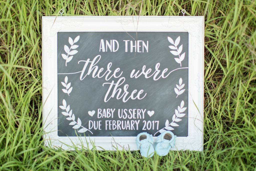 chalkboard baby announcement example 2