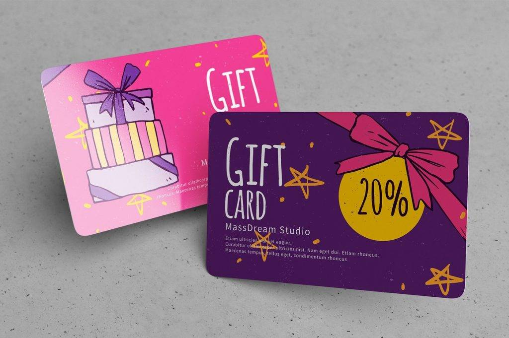 chalkboard cash card voucher example
