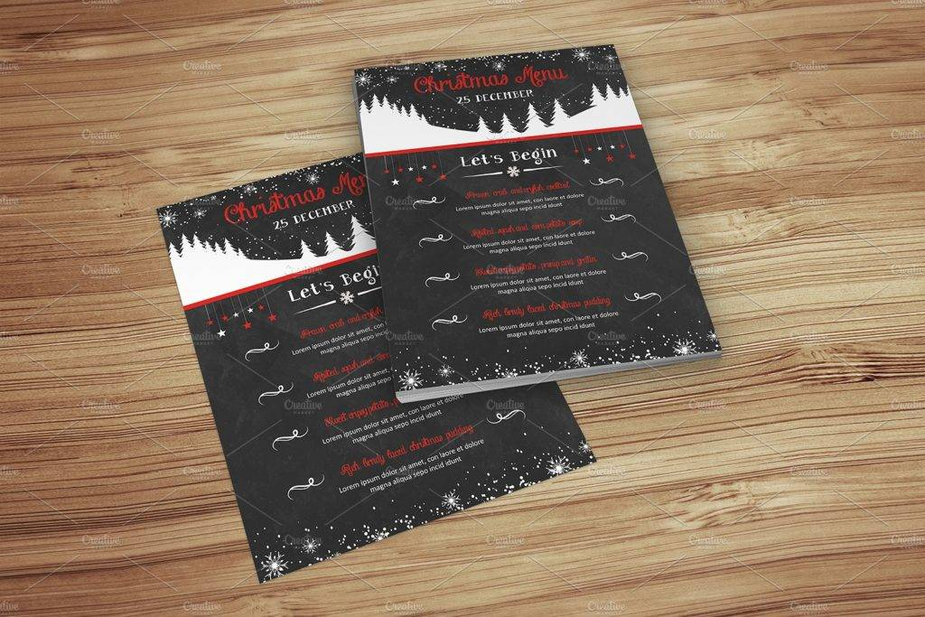 chalkboard christmas event menu example 1024x683
