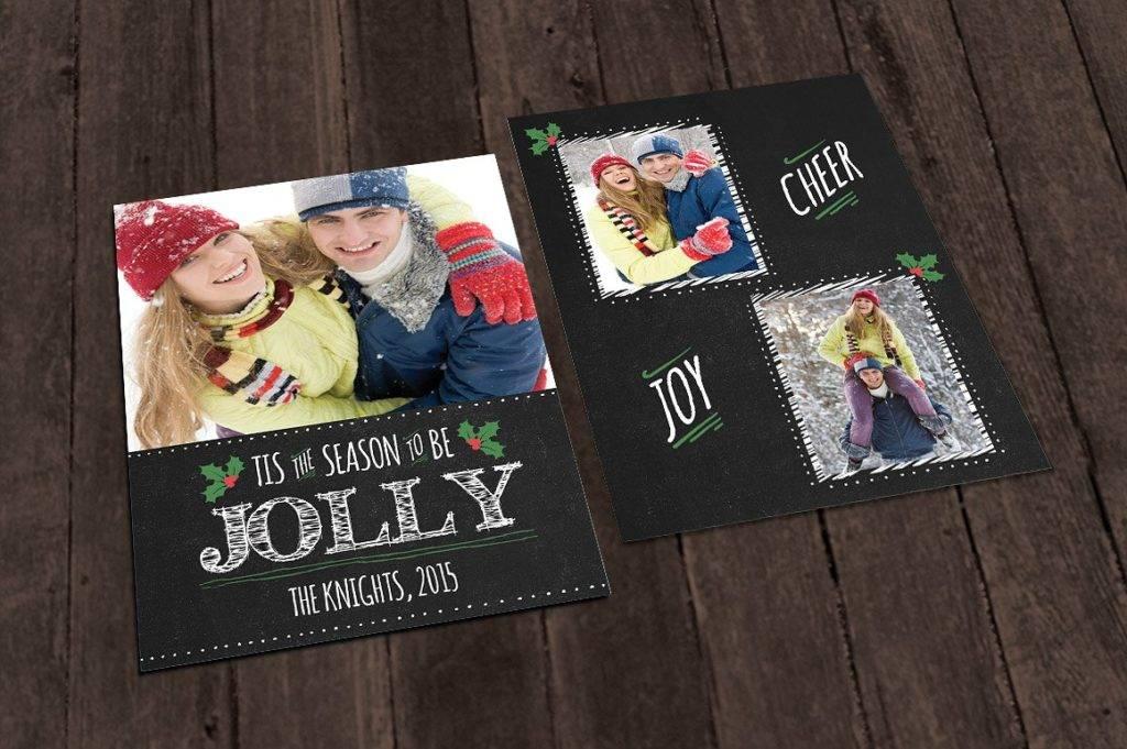 chalkboard christmas photo card example1
