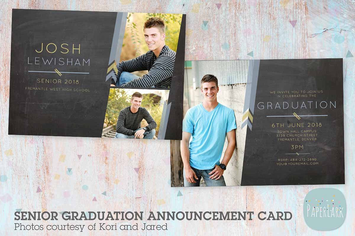 chalkboard graduation greeting card example