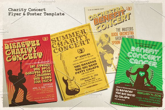 charity concert poster example