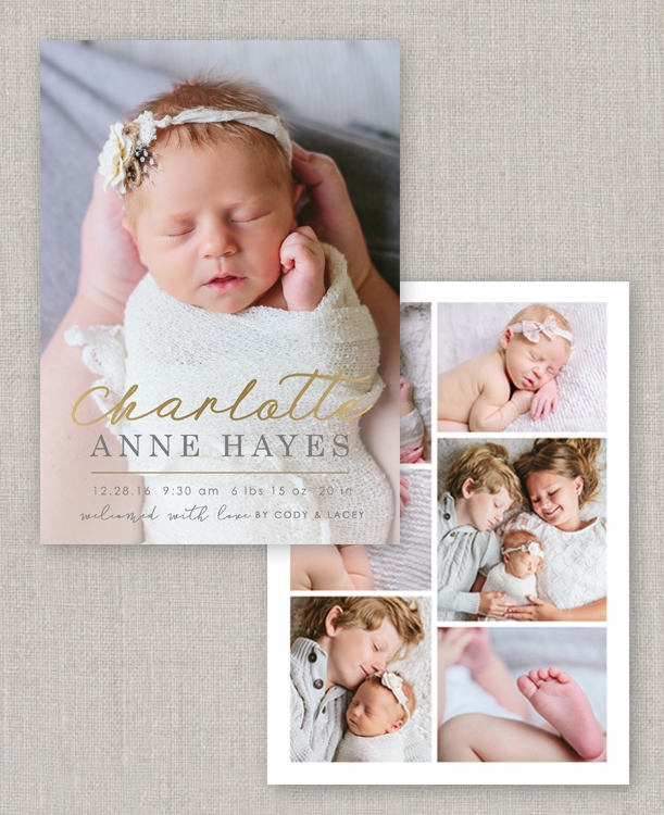 charlotte birth announcement template example