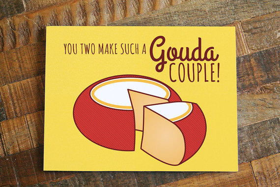 cheesy wedding card example