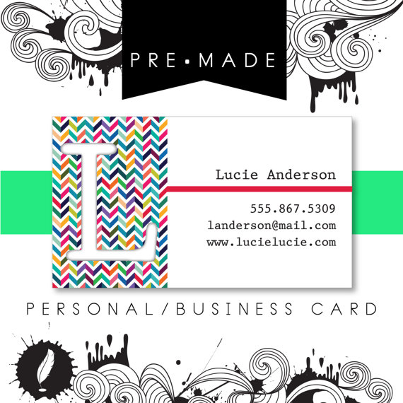 chevron personal business card example