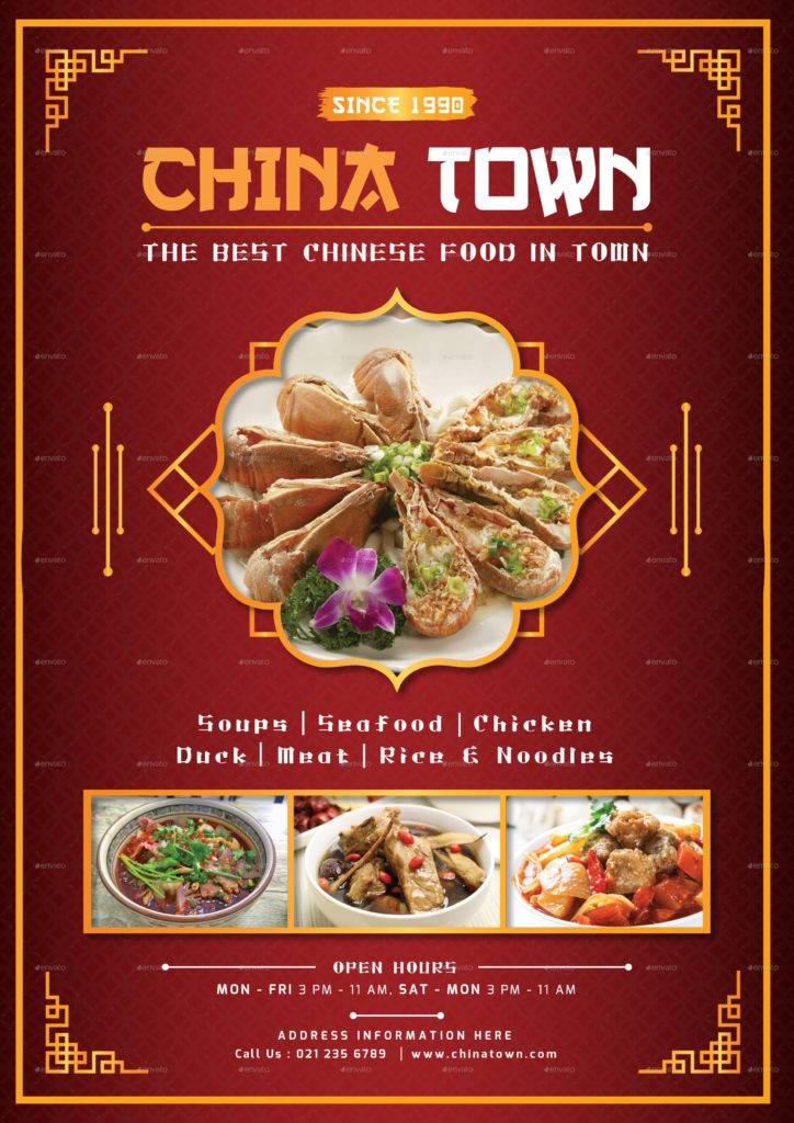 china town menu example
