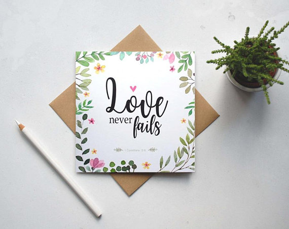 christian wedding card example