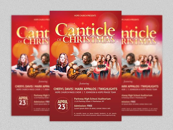 christmas concert poster example